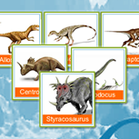 <p>Mostre que a sua cuca está afiada nesse jogo da memória com algumas das espécies de dinossauros.</p>