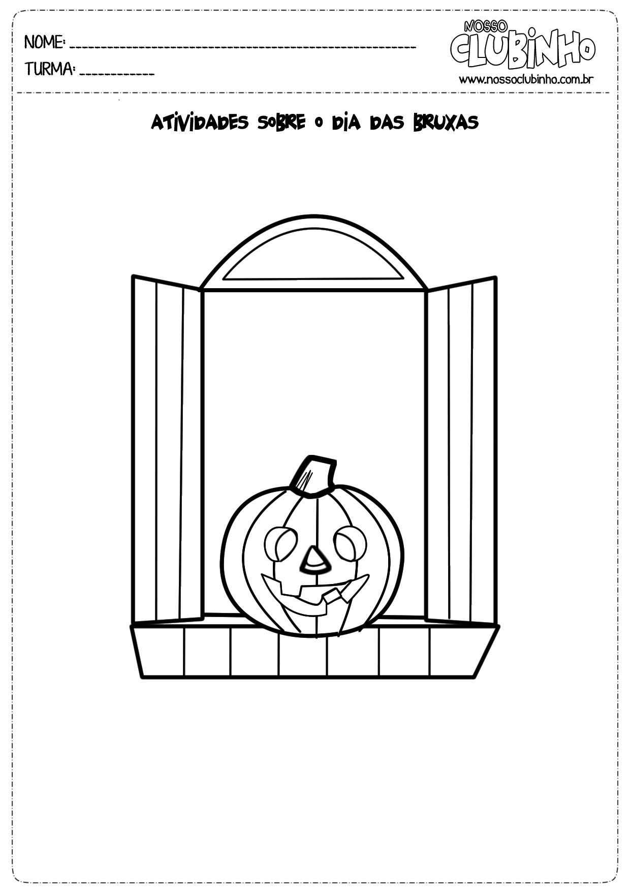 Atividades para crianças de 5 a 6 anos sobre o Halloween