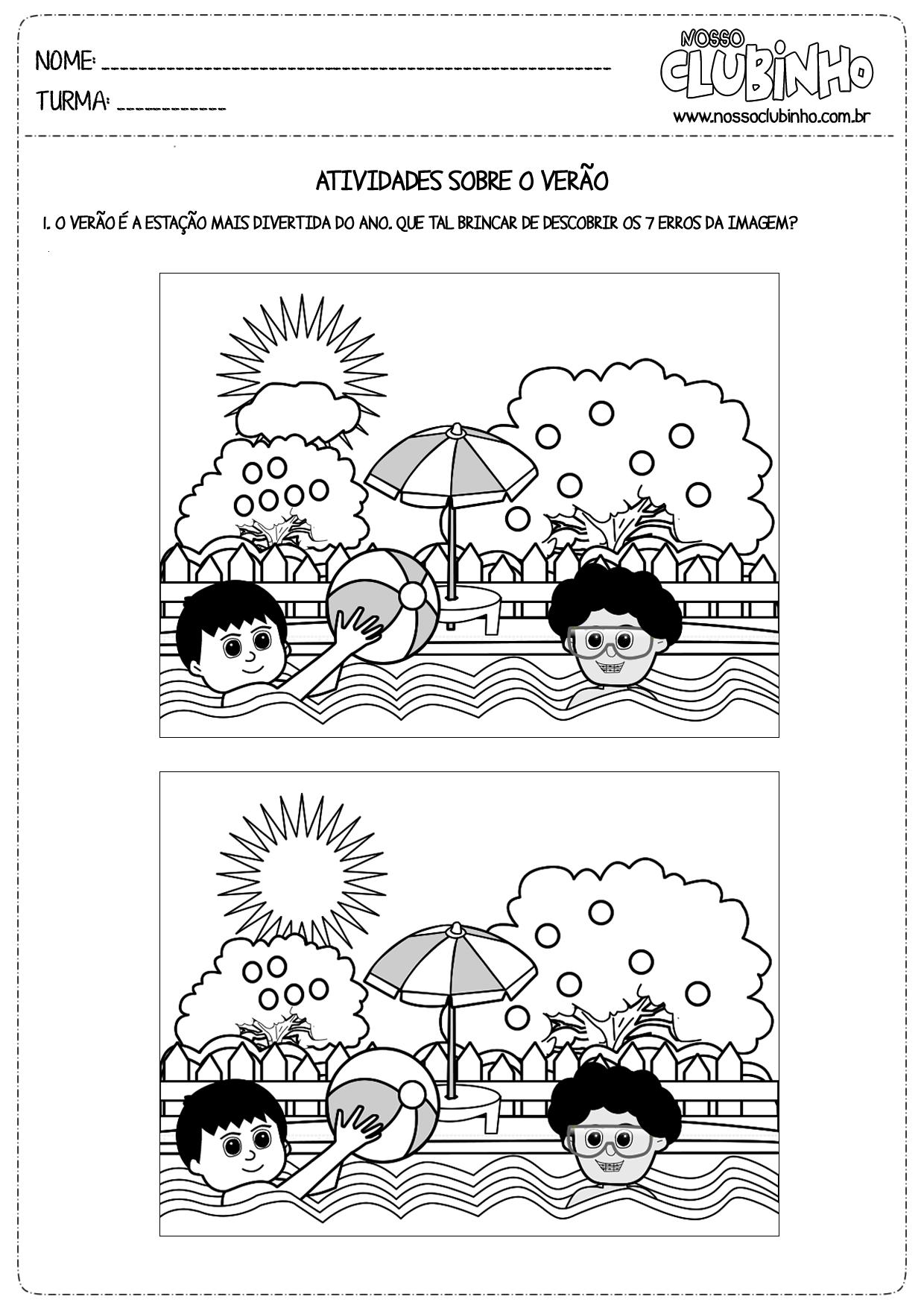 Atividade Para Crian  As Da Educa    O Infantil   Um Joguinho Dos 7