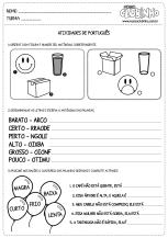 <p>Atividade para crianças que trabalha com antônimos. Nessa atividade educativa, o aluno deverá encontrar os antônimo das palavras em três tipos de exercícios diferentes.</p>