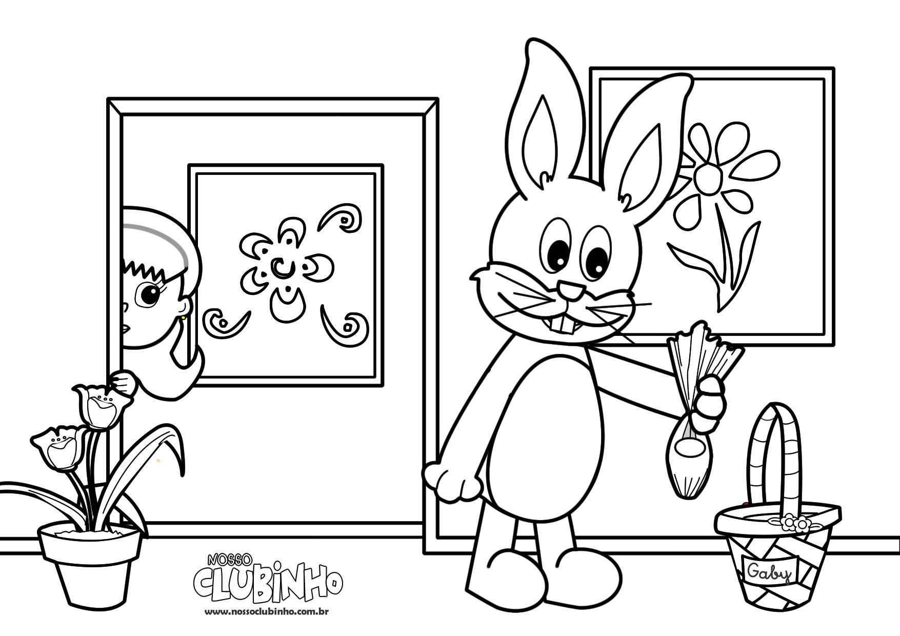 Desenho Para Colorir: Páscoa II
