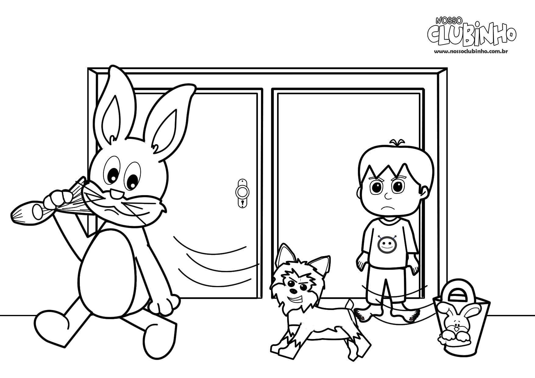 Desenho Para Colorir: Páscoa IV