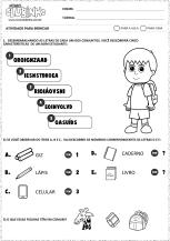 <p>Atividade para alfabetização de crianças com o tema Dia do Estudante. Nessa atividade educativa, os alunos deverão responder enigmas sobre o alfabeto e sílabas.</p>