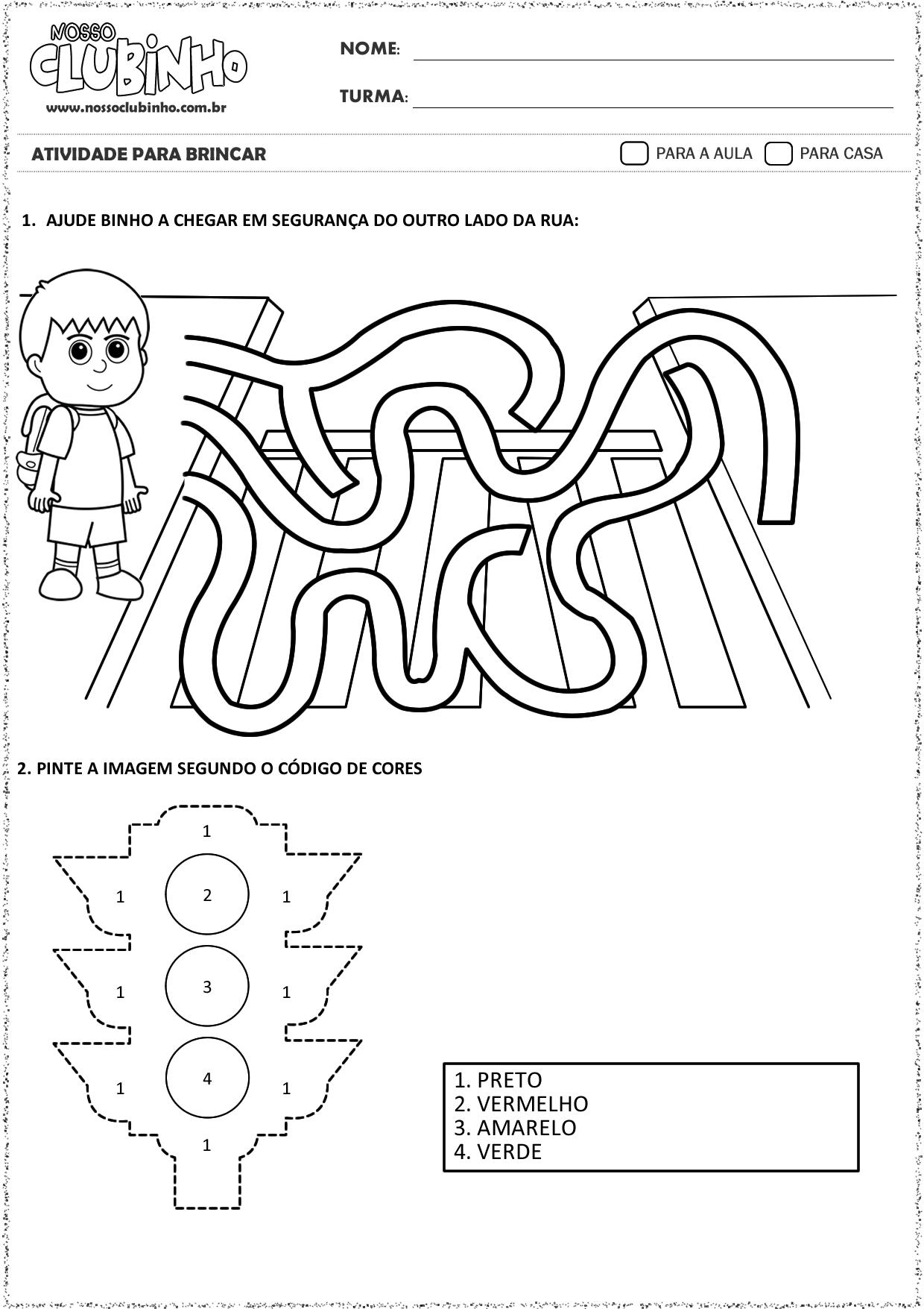 Populares Atividades para Educação Infantil: Semana Nacional do Trânsito  QJ85
