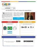 <p>Atividade educativa alusiva a independência do Brasil. Nessa atividade de alfabetização, as crianças descobrem uma curiosidade sobre José Bonifácio e brincam com os símbolos da pátria.</p>